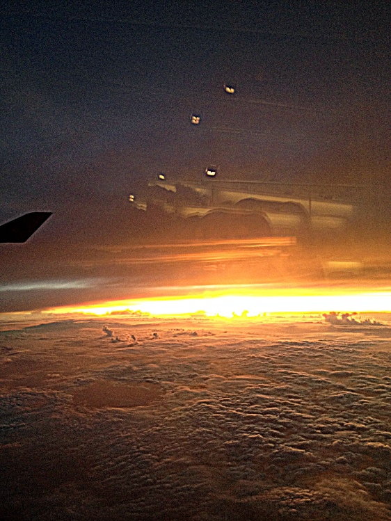 Flying over Typhoon Phanfone to the Land of the Rising Sun