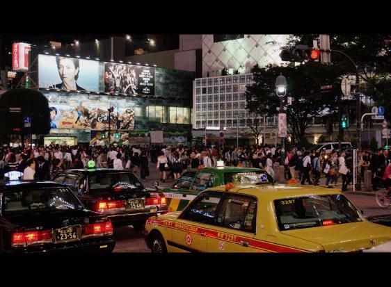 Taxi - Shibuya Crossing, Tokyo